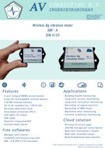 SBR Trillingsmeter Draadloos en Energiearm in de Cloud