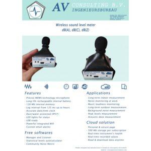 Milieuvergunning Draadloze geluidsmeter voor Geluidsmonitoring